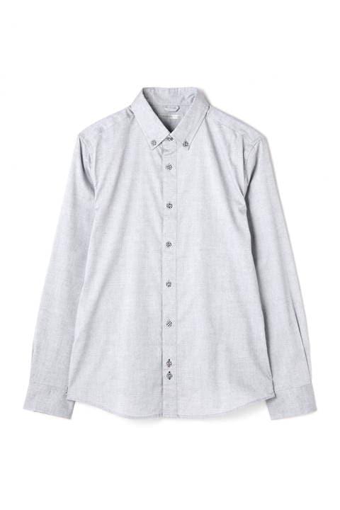 BLUE TORNADO∴オックス裾パイピングBDシャツ