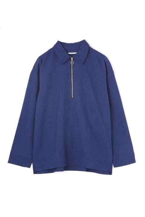 【FINE BOYS掲載】BLUE TORNADO∴トロワッシャーハーフZIPプルオーバー長袖シャツ