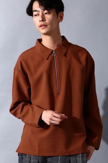 BLUE TORNADO∴トロワッシャーハーフZIPプルオーバー長袖シャツ