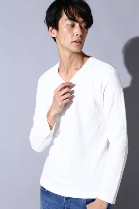 【ドラマ着用商品】BLUE TORNADO∴リンクスJQ長袖Vネック