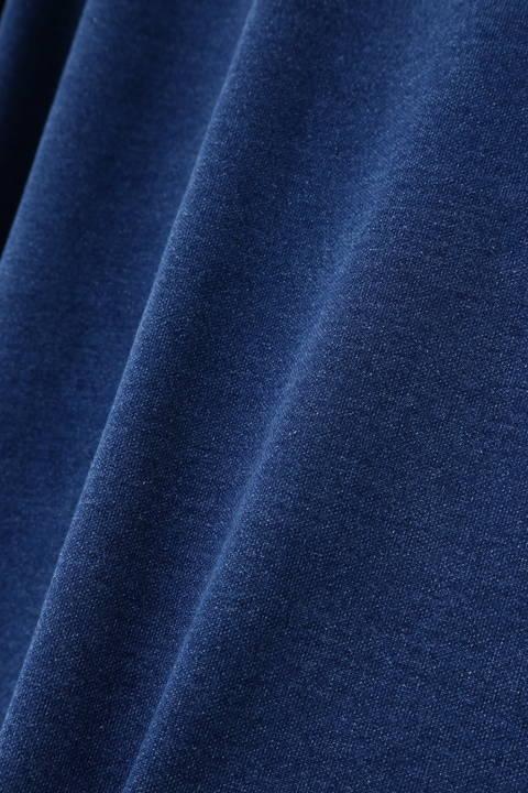 BLUE TORNADO∴カットデニム袖ライントレーナー