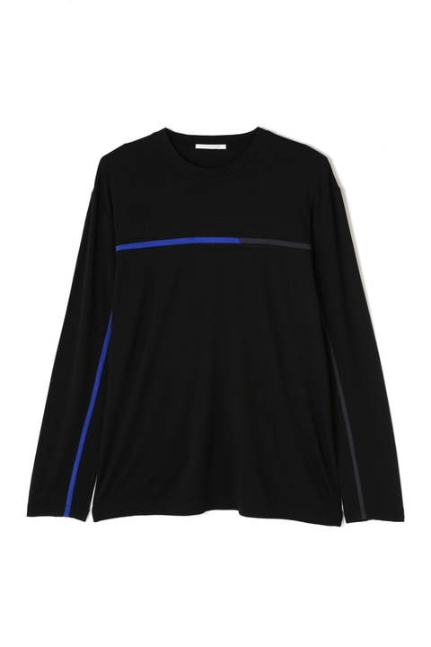 BLUE TORNADO∴ポンチライン配色切替長袖Tee