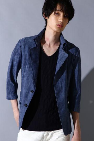 TORNADO MART∴ハイテンションムラデニム7分袖返し衿ジャケット