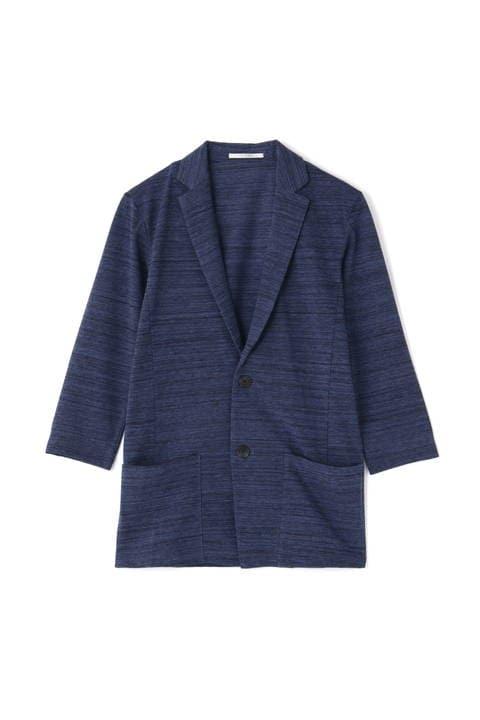 BLUE TORNADO∴杢スラブ鹿の子カットジャケット