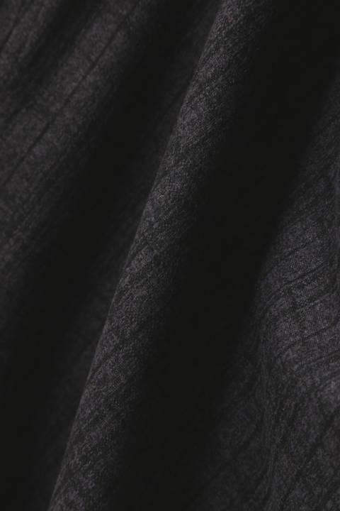 【LADIES'】スエードジャガード ドレープモッズコート