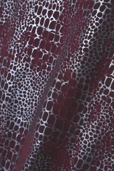 TORNADO MART (LADIES) ∴クロコブライトフォイル半袖カットソー