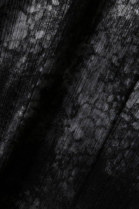 【LADIES'】TORNADO MART ∴針抜きテレコクロコフォイルドレープカーディガン