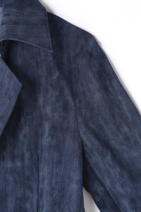 【ドラマ着用商品】TORNADO MART∴ハイテンションムラデニム返し衿ジャケット
