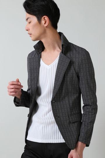 TORNADO MART∴チェックメッシュ返し衿ジャケット