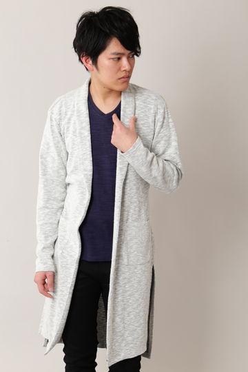【ドラマ着用商品】BLUE TORNADO∴スラブ畦ロングショールカーディガン