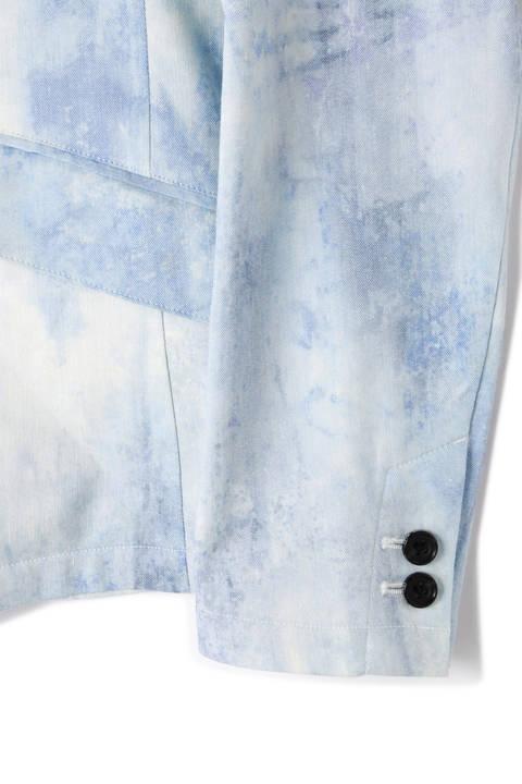 【TV着用商品】TORNADO MART∴麻ストレッチムラプリントジャケット