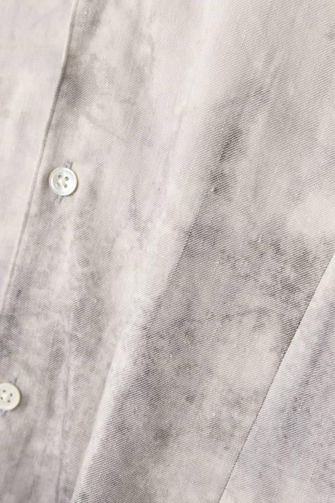 【ドラマ着用商品】TORNADO MART∴麻ストレッチムラプリントシャツ