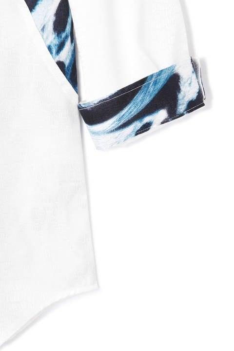 TORNADO MART∴アニマルパッチワーク7分袖シャツ