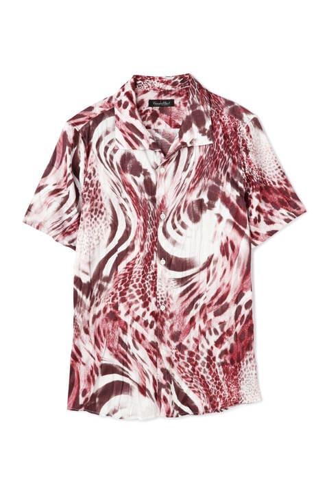 TORNADO MART∴MIXアニマルコラージュプリント半袖シャツ