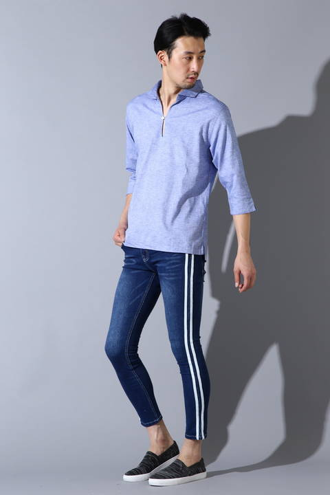 BLUE TORNADO∴C/Lストレッチ7スリーブカプリシャツ