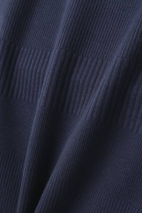 BLUE TORNADO∴ランダムリブボートネック