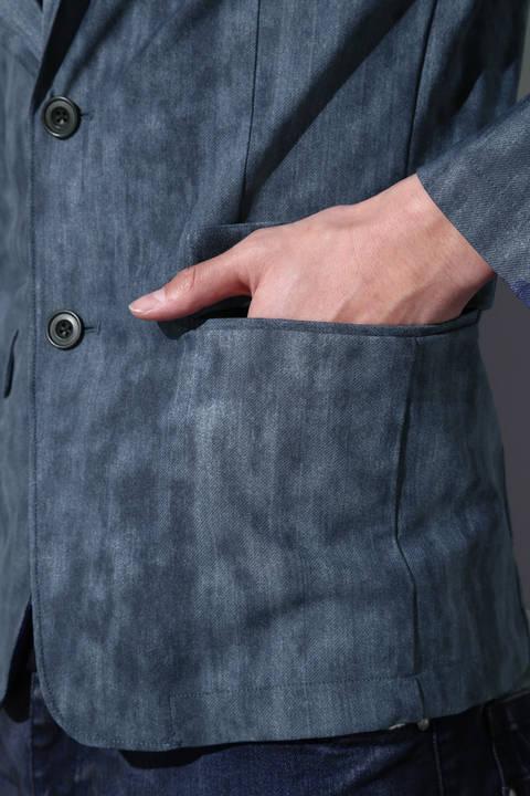 TORNADO MART∴ハイテンションムラデニム返し衿ジャケット