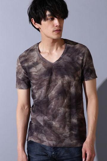 TORNADO MART∴グラデムラフラワー半袖カットソー