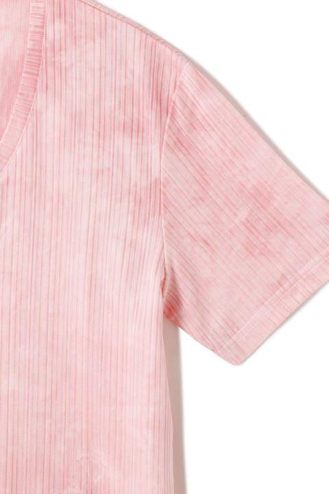 TORNADO MART∴ムラ染めラッカー半袖カットソー