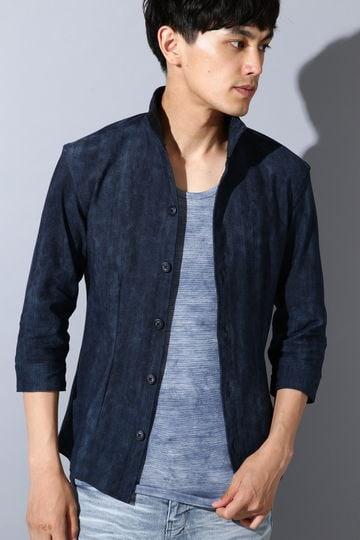 TORNADO MART∴ハイテンションハーフムラデニム7分袖シャツ