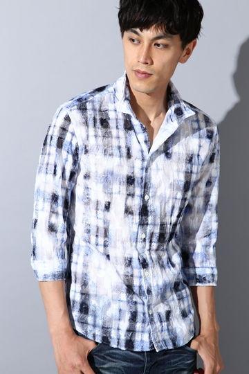 TORNADO MART∴カットJQボイルチェック7分袖シャツ
