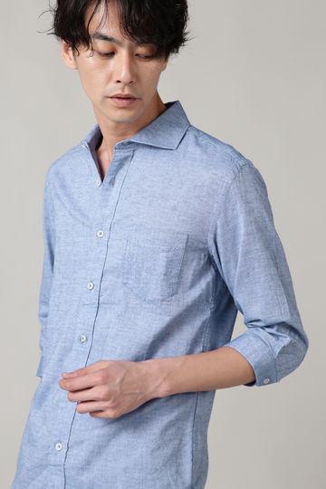 BLUE TORNADO∴C/Lホリゾンタルカラー7分袖シャツ