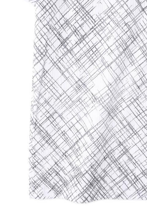 TORNADO MART∴クロスライン箔半袖カットソー