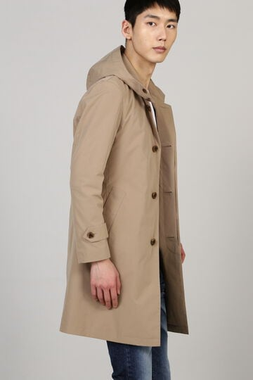 HIGH STREET∴フード付ステンカラーコート