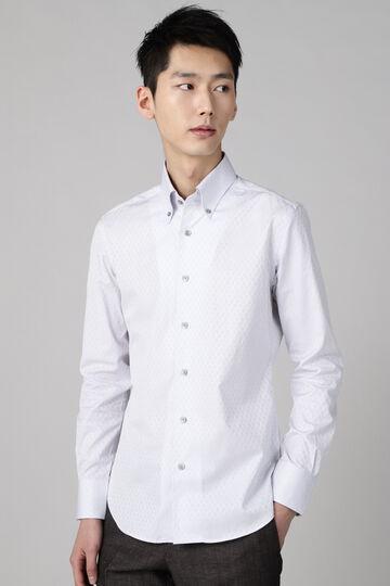 HIGH STREET∴100/2チェックジャガードワンピースBDシャツ