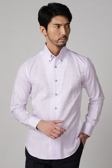 HIGH STREET∴80/2ドビーチェックワンピースBDシャツ