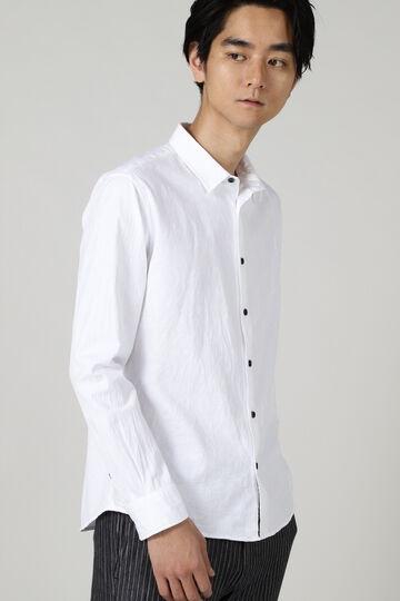HIGH STREET∴ジャガード切り替えショートカラーシャツ