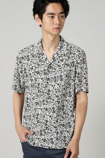 HIGH STREET∴ボタニカルプリントオープンカラー半袖シャツ