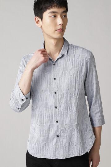 HIGH STREET∴ランダムタック7分袖シャツ