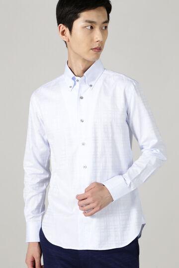 ドビーチェックシャンブレーシャツ
