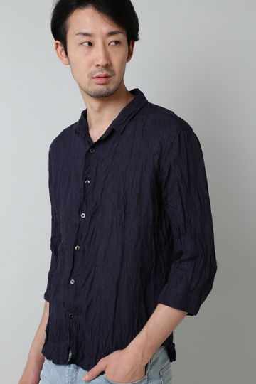 HIGH STREET∴リネンショートウイング7分袖シャツ