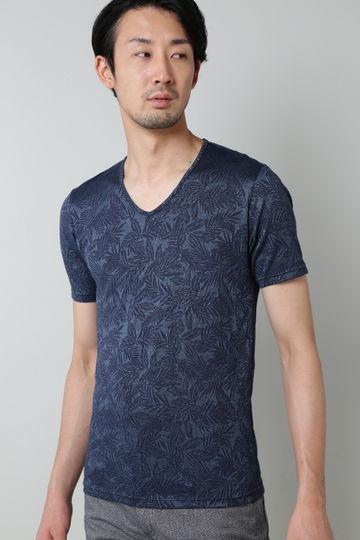 HIGH STREET∴32Gボタニカルジャガード半袖カットソー