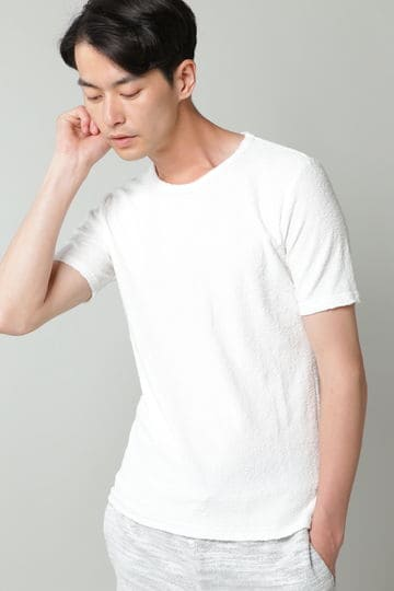 HIGH STREET∴ランダムパイル半袖クルーネックカットソー