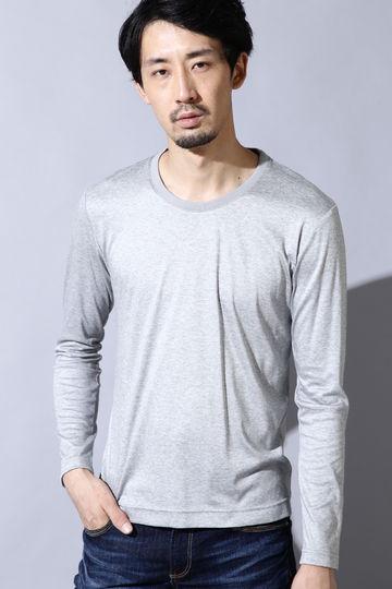 HIGH STREET∴衿編み立てクルー長袖カットソー