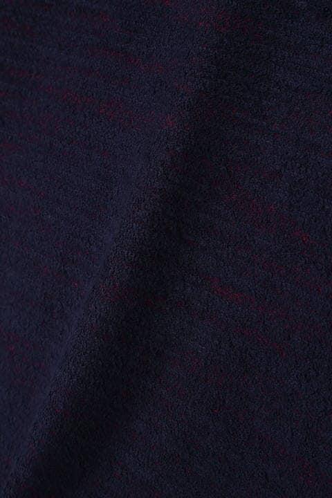 HIGH STREET∴圧縮パイルVネック長袖カットソー