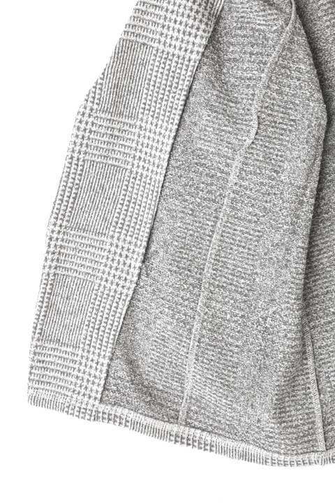 HIGH STREET∴グレンチェック柄7分袖カットジャケット