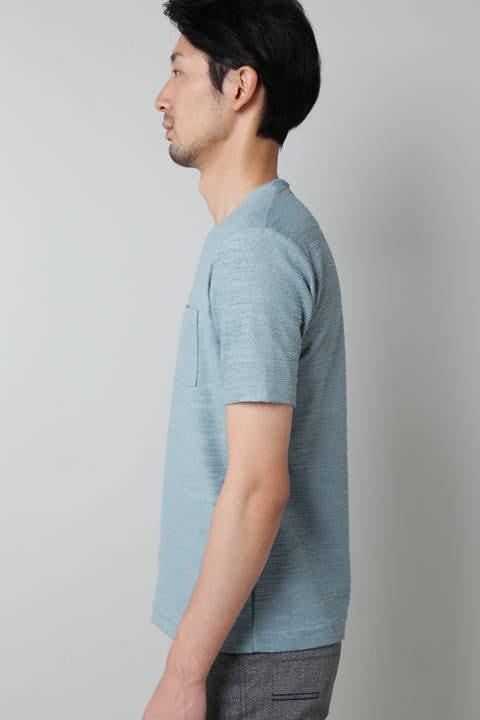 HIGH STREET∴圧縮パイルポケ付き半袖クルーネックカットソー