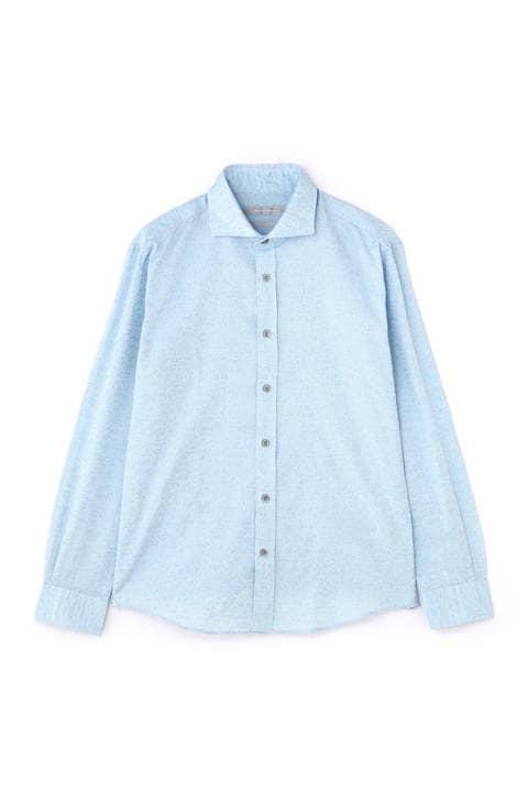 HIGH STREET∴小花柄ジャガードシャツ