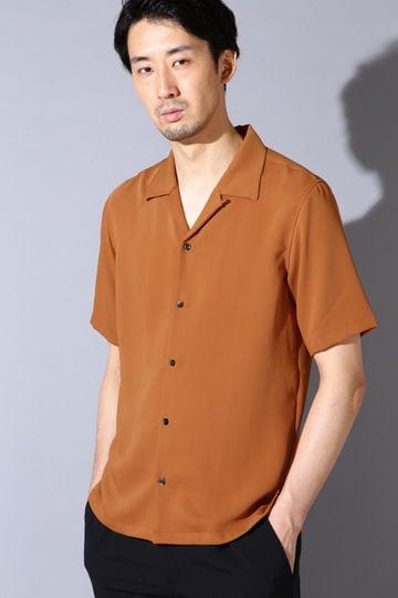 HIGH STREET∴サテンオープンカラー半袖シャツ
