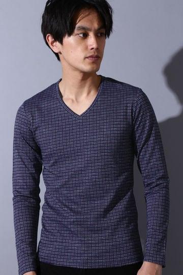 HIGH STREET∴格子JQ長袖カットソー