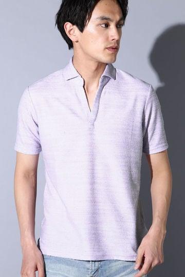 HIGH STREET∴COOL MAX BLスラブパイル スキッパーポロシャツ