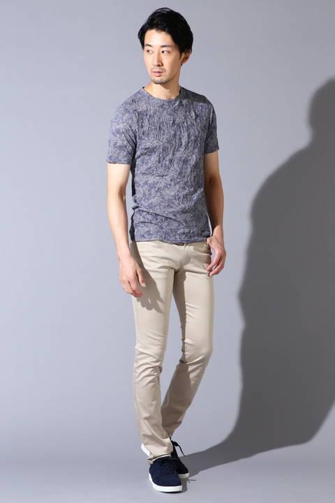 HIGH STREET∴ヤシ柄ジャガードクルー