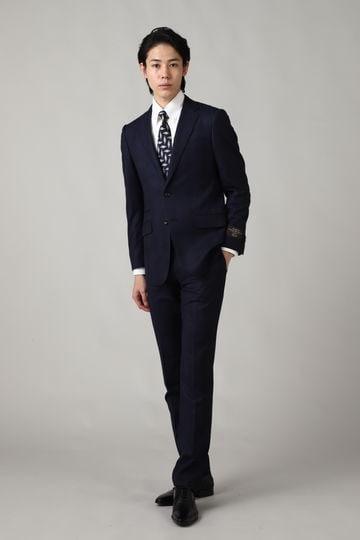 【ドラマ着用商品】HIGH STREET∴CANONICO S120'sグレンチェックスーツ
