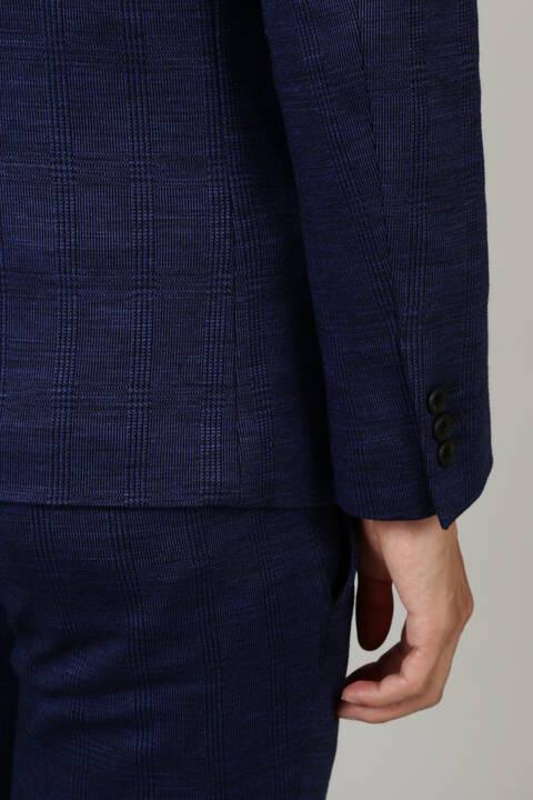 HIGH STREET∴麻綿グレンチェックジャージジャケット