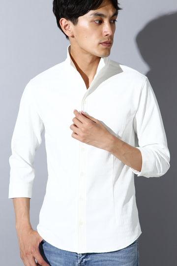 HIGH STREET∴チェックオブロング7分袖シャツ