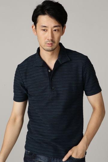 HIGH STREET∴タックカノコボーダー半袖オブロングポロシャツ